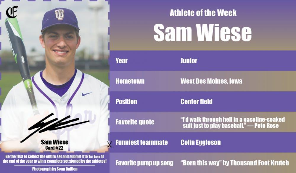 Athlete of the Week – Sam Wiese