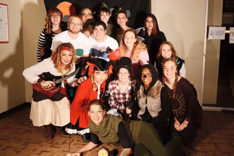 A group of friends can even make themed costumes, as exemplified by members of Gerig. (Photograph by Hannah Stumpf)