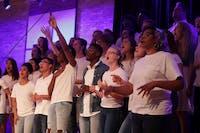 Members of the Gospel Choir performed black gospel music and Carribbean songs