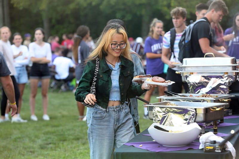 Taylor University students celebrated the 175th year of the school with a special cookout.