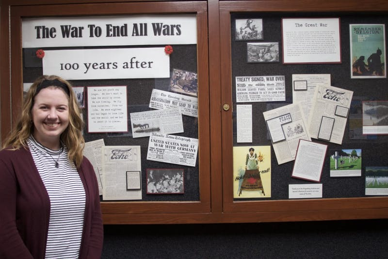 Freshman Elizabeth Hammond has assisted the history department in preparing for Taylor's upcoming weekend of remembrance.