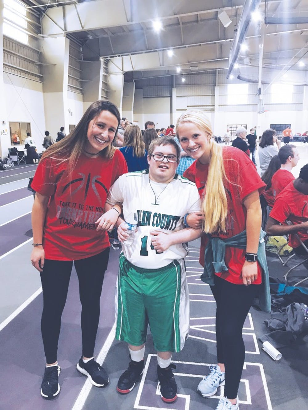 Athletes compete in Special Olympics event