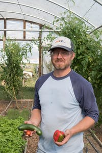 Taylor University frequently receives fresh, locally grown vegetables, fruits and herbs from Daniel Troyer's Victory Acres Farm only a few miles away in Upland, IN.
