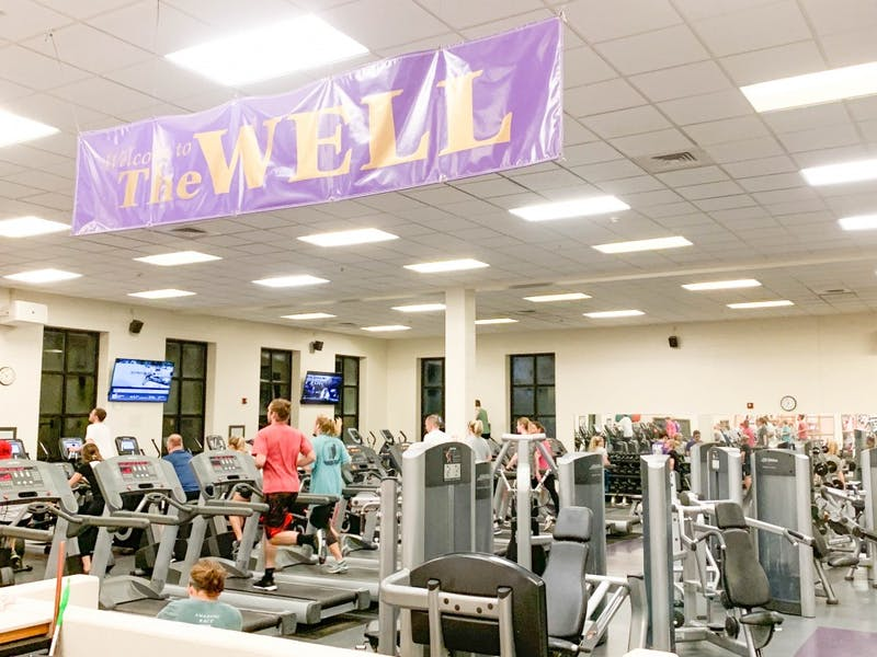 The Well provides a safe place for students to exercise.
