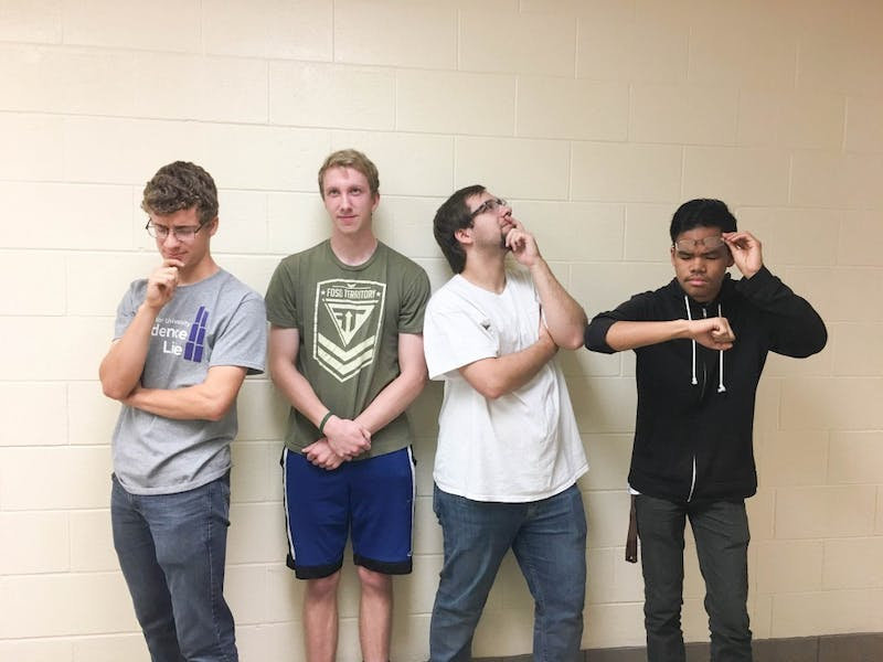 Learn how can a video game teach you lessons about life with (L to R) Tim Pietz, Elijah Oates, Carson Jacobs and Sam Guinsatao in their monthly gaming column. (Photograph provided by Megan Alms)