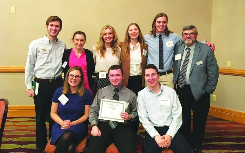 Echo staffers attended to Hoosier State Press Association Newsroom Seminar and Awards Luncheon last Saturday. (Photograph provided by Katherine Yeager)
