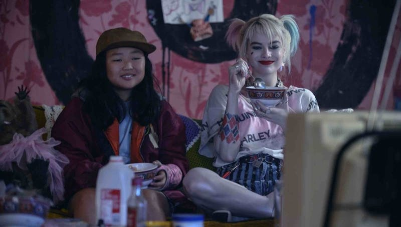 "Cassandra Cain and Harley Quinn enjoy a moment of peace in the action-packed ""Birds of Prey"""