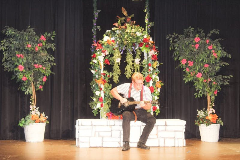 "Lane Vermilion plays Curio in a local theater production of ""Twelfth Night."" (Photograph by Emily Pawlowski)"
