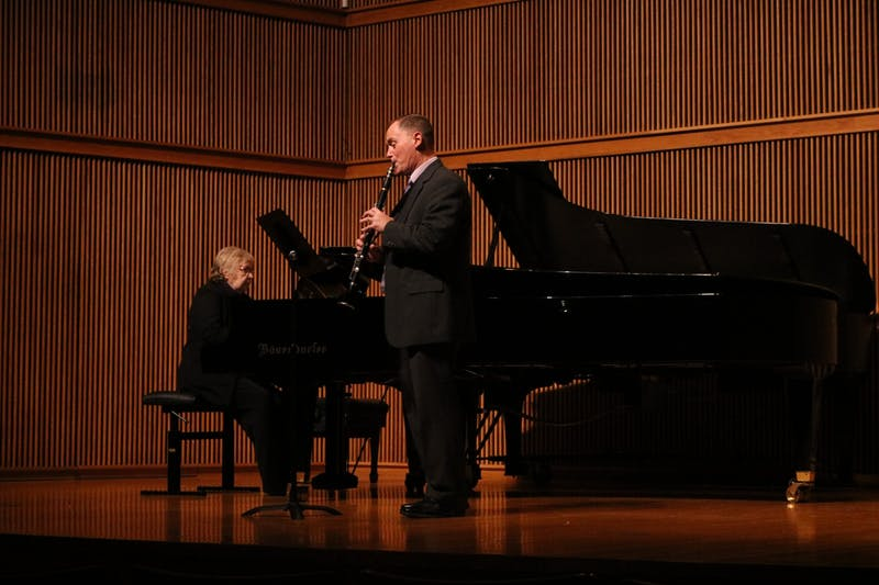 Professor of Music Christopher Bade performed a clarinet solo at the showcase