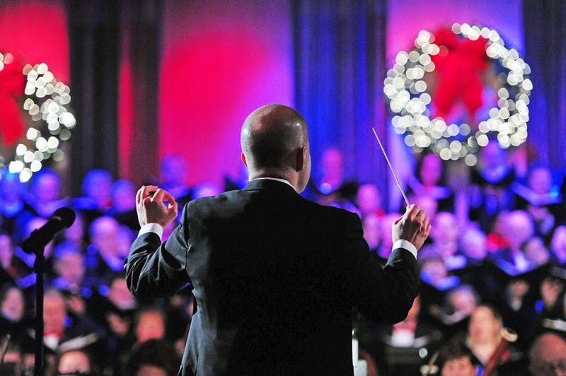 "Eric Stark will conduct the ""Festival of Carols."""
