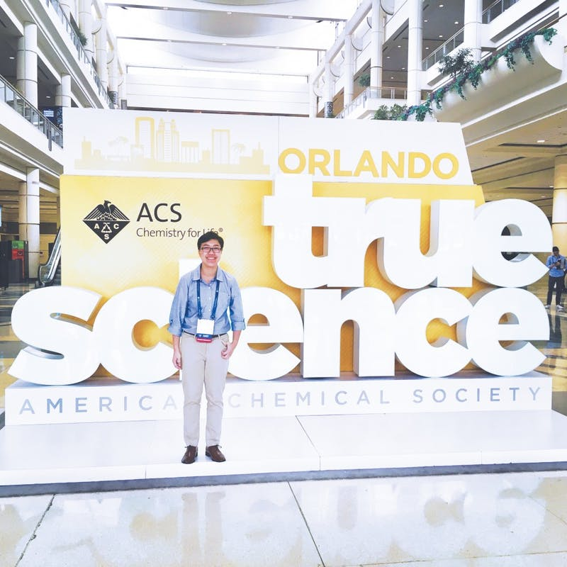 Junior Erica Mitchell attended the National Meeting of the American Chemical Society in Orlando, Florida. Photo provided by Erica Mitchell.
