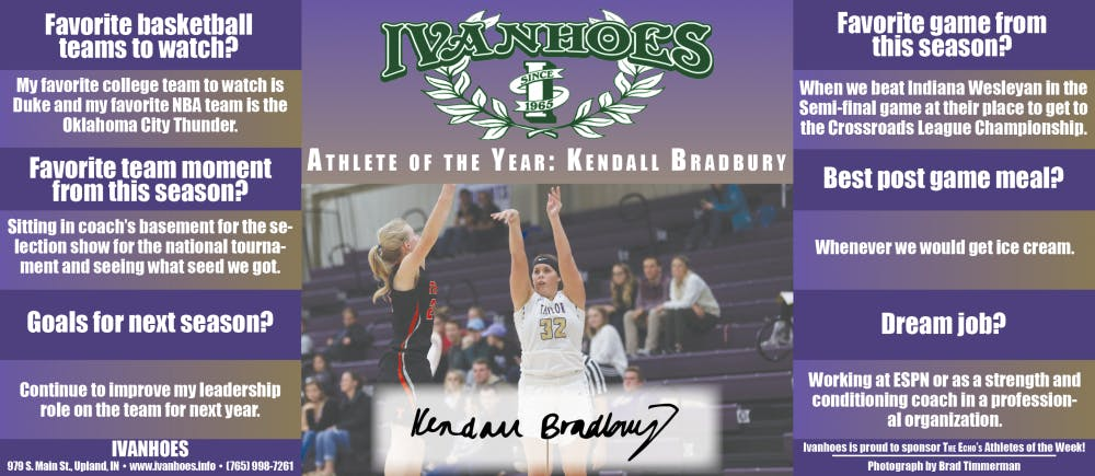 Athlete of the Year – Kendall Bradbury