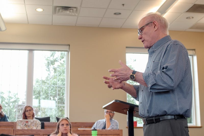 Jerry Jenkins spoke at several professional writing and journalism classes about his personal experiences as an author.