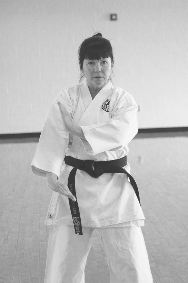 Sensei Dawn Anderson continues to teach karate.