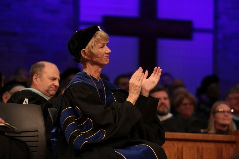 Interim President shares stories and wisdom from her life