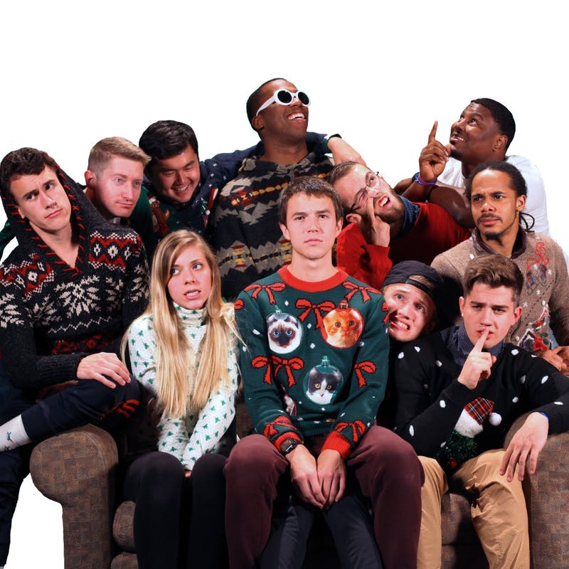 Junior Landry Long (front center) and his team pose for a light-hearted photo. (Photograph provided by Landry Long)