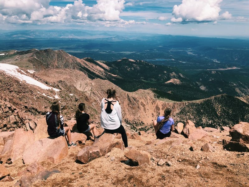 Students at the Colorado location of Summit were surrounded by mountains and often climbed up the peaks during the day.