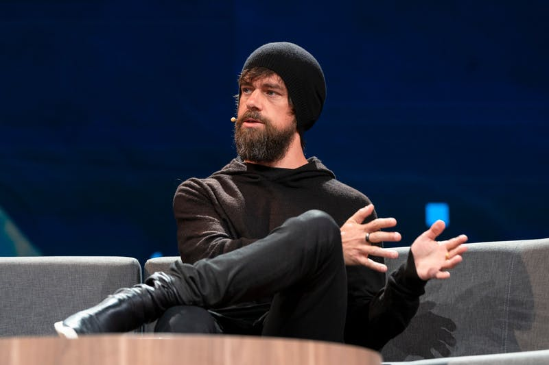 Jack Dorsey speaks at TED2019: Bigger Than Us. April 15 - 19, 2019, Vancouver, BC, Canada. Photo: Ryan Lash / TED