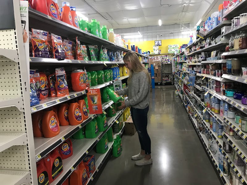 Sophomore Kate Kortenhoven looks for a deal at Dollar General.