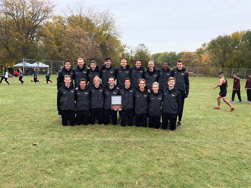 Taylor men's cross country won the Great Lakes Invitational