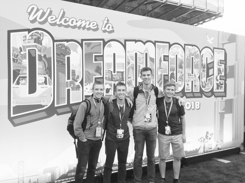Will, Alex, Nolan and Jason were excited to present at Dreamforce.