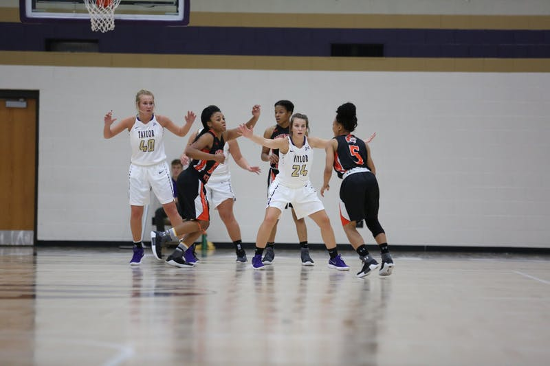 The women's basketball team shot over 4-% from the field against Indiana University East