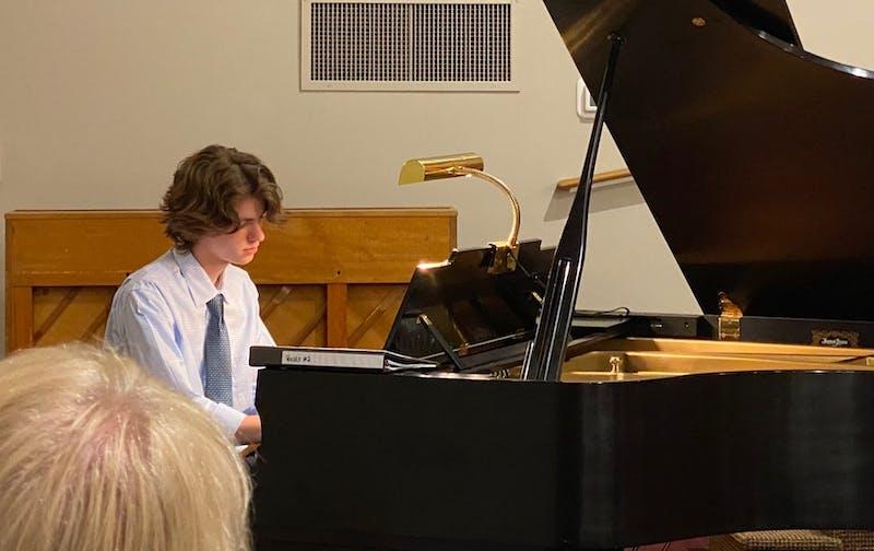 Freshman Josiah Friesen is a music composition major at Taylor.