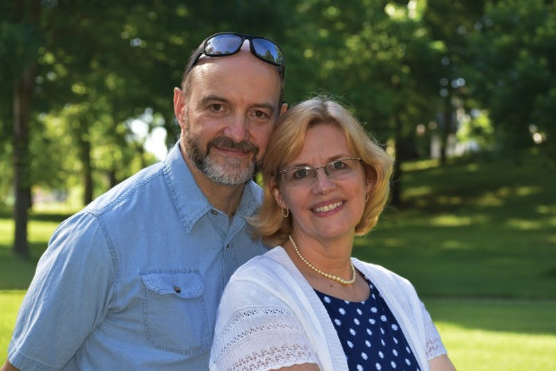Richard and Marilyn Perhai, Taylor's 2017-18 missionaries in residence. (Photograph provided by Richard Perhai)