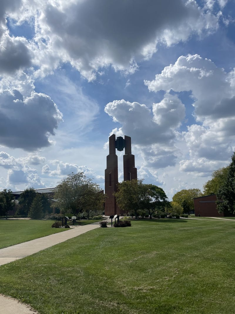Taylor's bell tower has been a symbol of the university for many years.