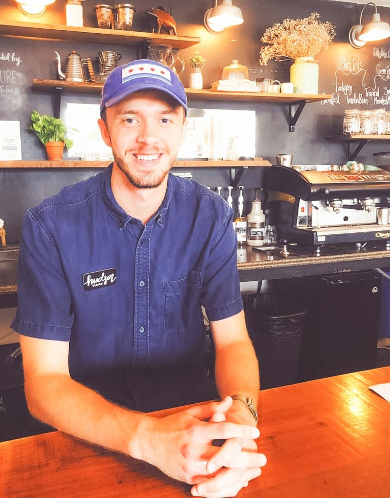 Junior Hudson Taylor has been a barista for three years. He sees his work as an art and a way to help people spend their hard earned money well.Photo provided by Hudson Taylor