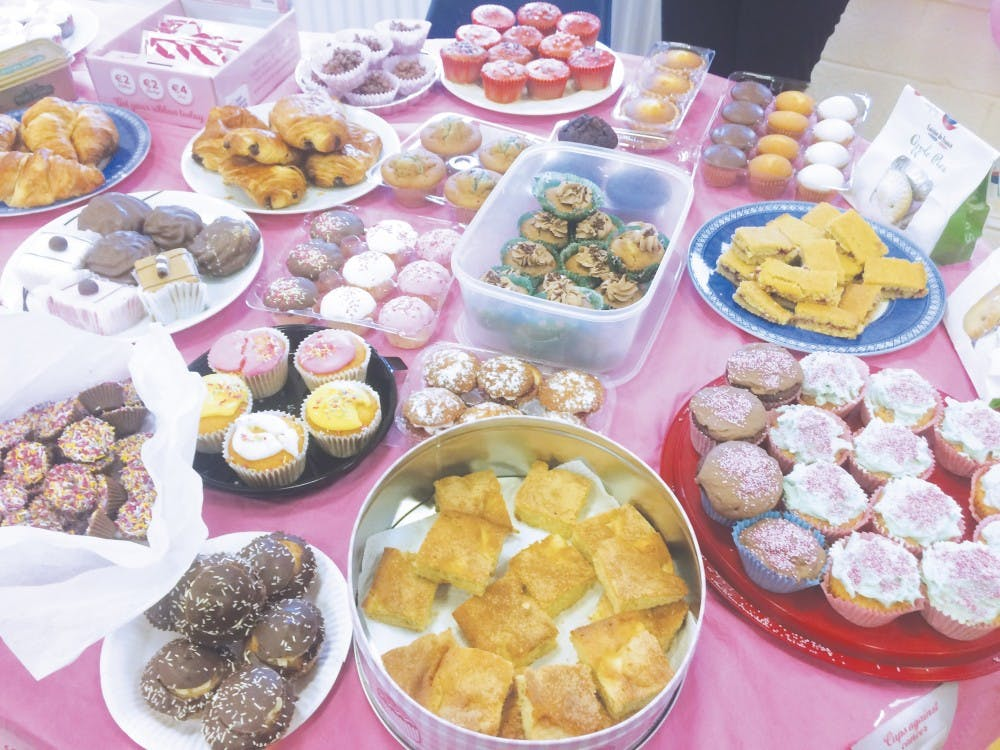 Conor and Kerri Angell hold a bake sale for future adoption