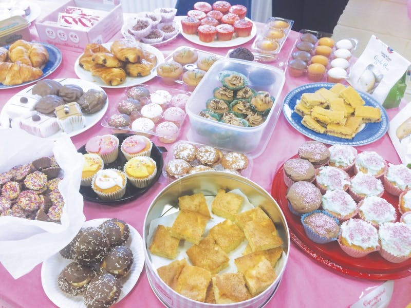 The Angells' bake sale will be this Saturday.