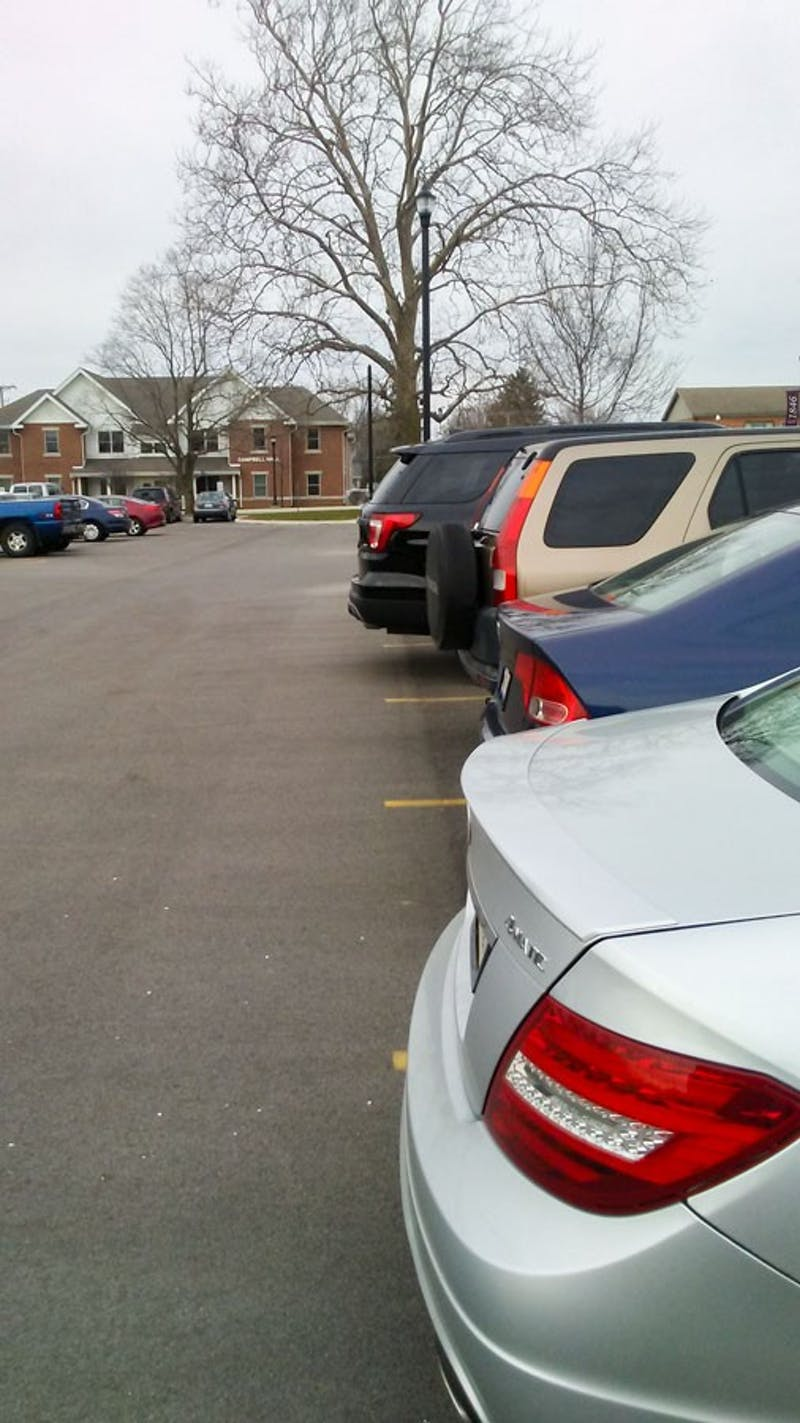 Taylor University has more students and less parking than ever before. (Photograph provided by Luke Wildman)