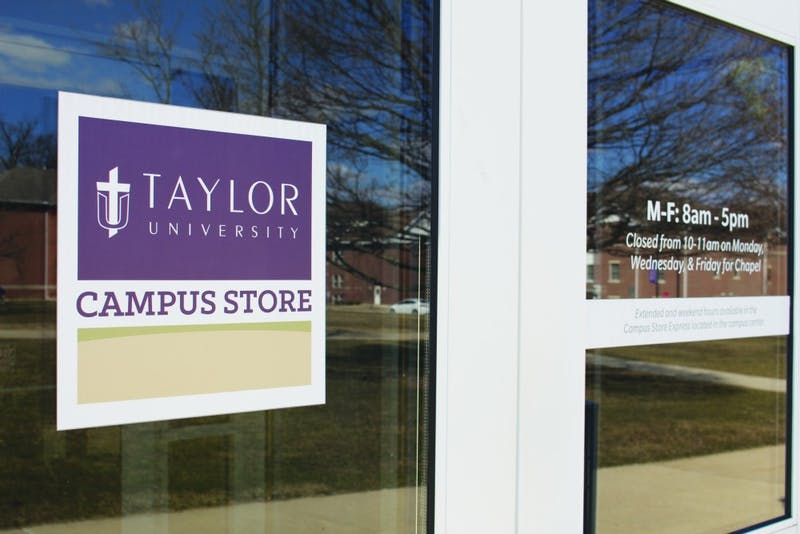 Taylor is working out plans to build a new campus store across the street, moving the campus store out of the old Student Union. (Photograph by Kassie Joviak)