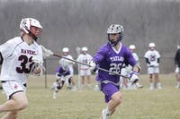 Senior Nathan Sahly was the only senior on the Taylor Men's Lacrosse team this year. (Photograph provided by Taylor Athletics)