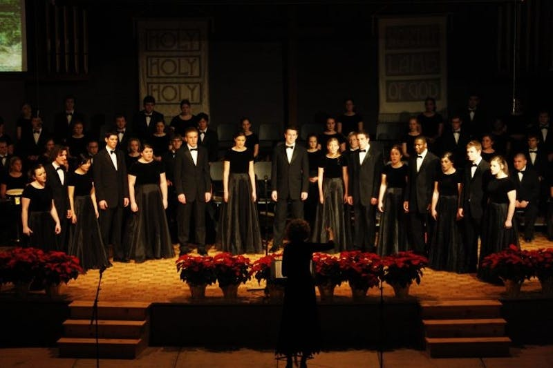 The Chorale celebrates Christmas around the world.(Photograph provided by JoAnn Rediger)
