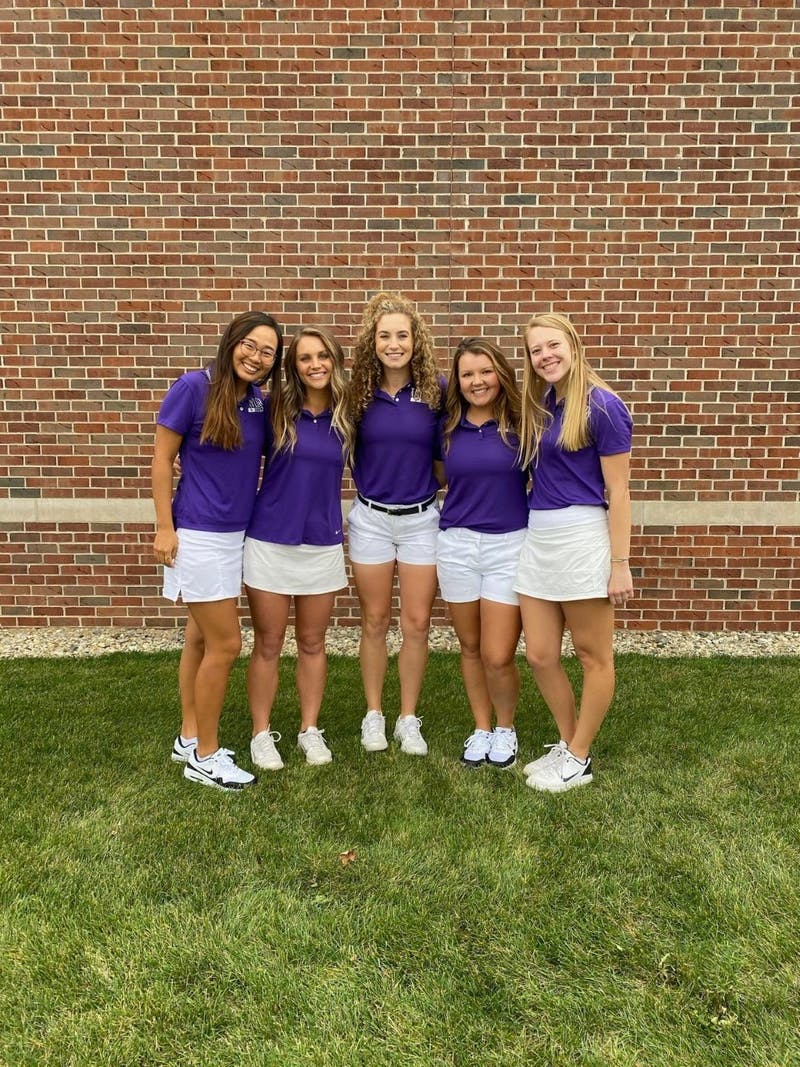 Nicole Jung, Maddie Thomas, Taylor French, Rachel Coers and Annie Stimmel have helped raise Taylor golf to new heights.