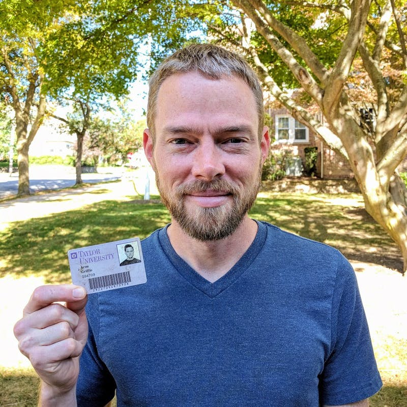 """What a riot when somebody contacts you and says, 'I found your wallet from 20 years ago. It was just here in the ground,'"" Aron Griffis ('99) said. (Photograph provided by Aron Griffis)"
