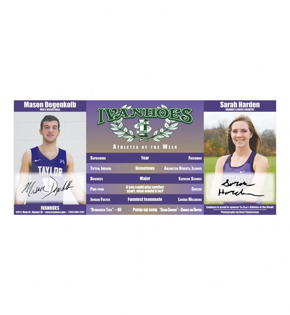 Athletes of the Week – Mason Degenkolb and Sarah Harden