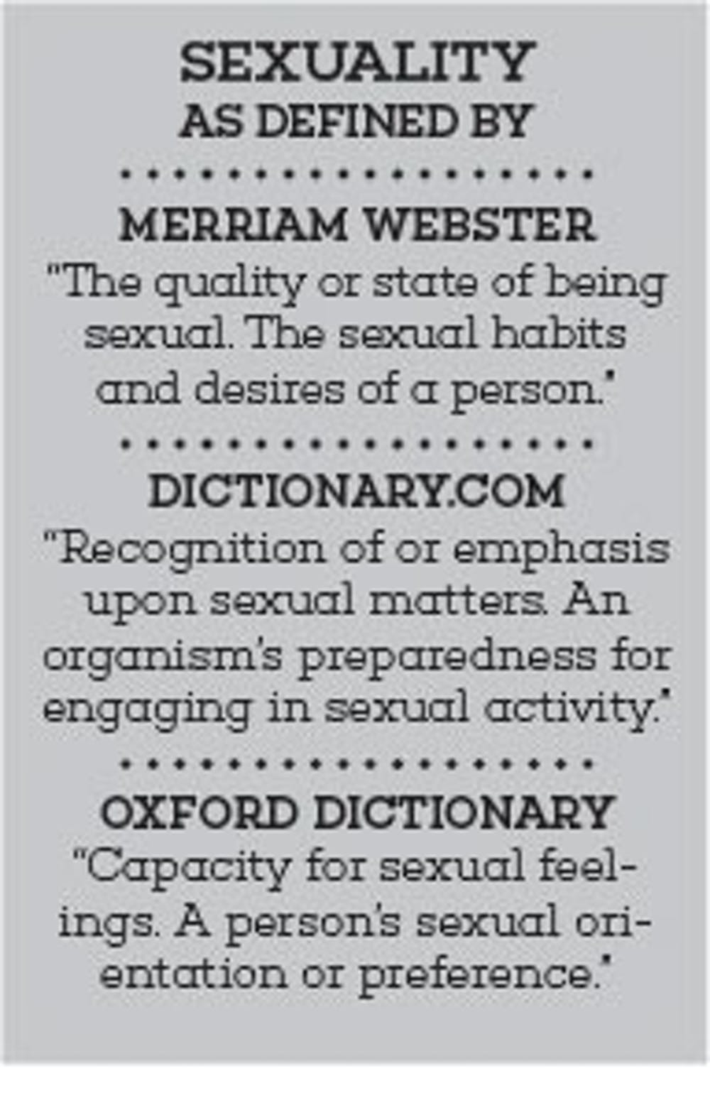 Sex, words and buffalo