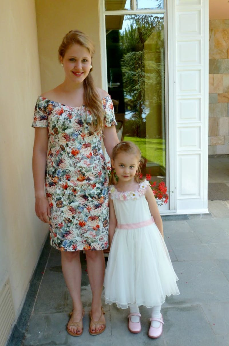 Cassandra Beck poses with Ella after attending a Turkish wedding (Photo provided by Cassandra Beck).