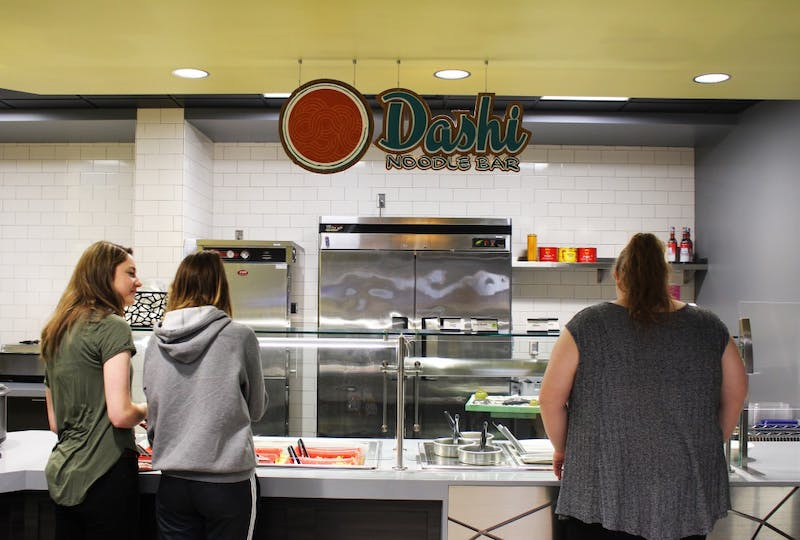 The Dashi Noodle Bar is a favorite among regular customers. (Photograph by Ellie Bookmyer)