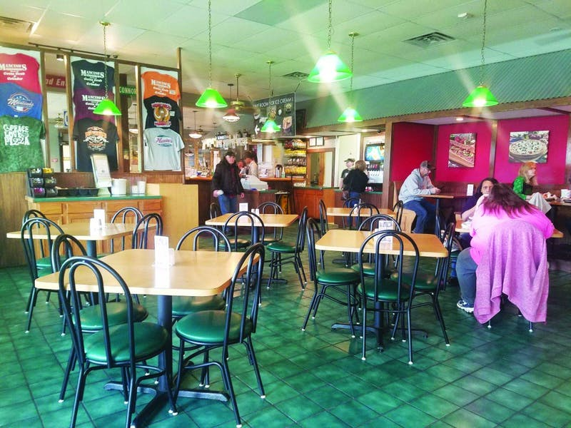Mancino's Pizza and Grinders has a welcoming atmosphere for its customers.