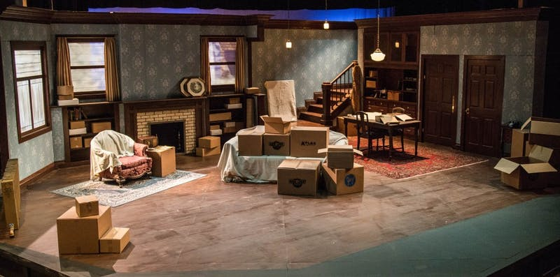Set from act one, 1959 in Clybourne Park. (Photograph by Abigail Roberts)