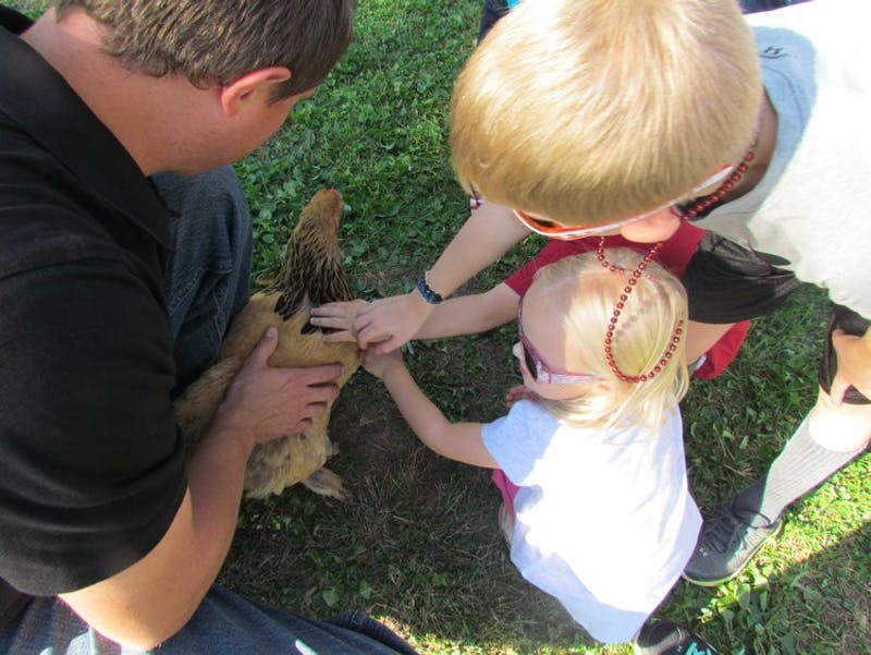 Some of Westwind's petting zoo animals are available to take on walks during visits.