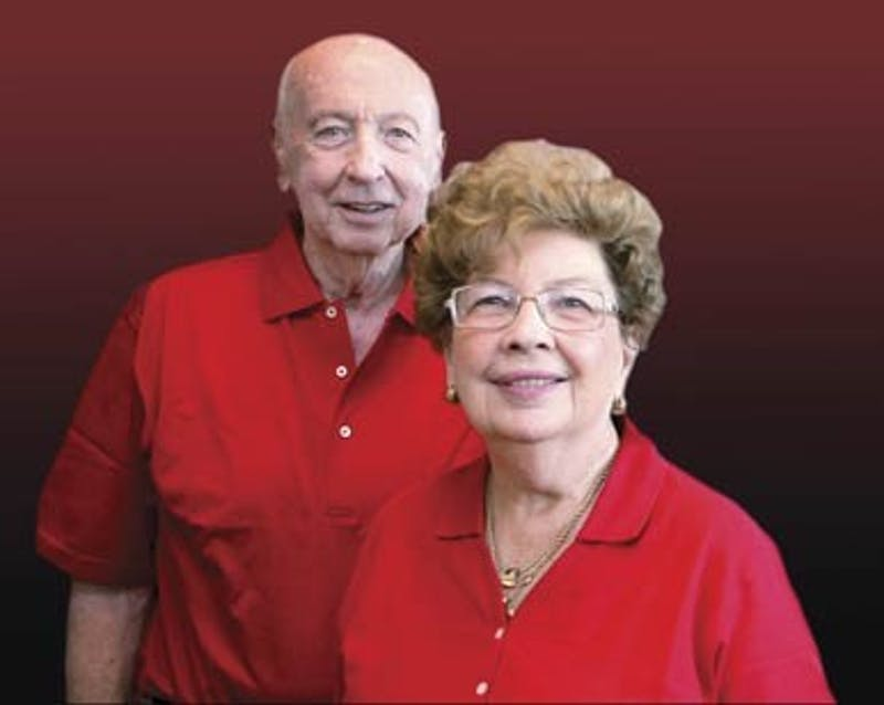 Leland Boren and LaRita Boren, the previous owners of the estate.