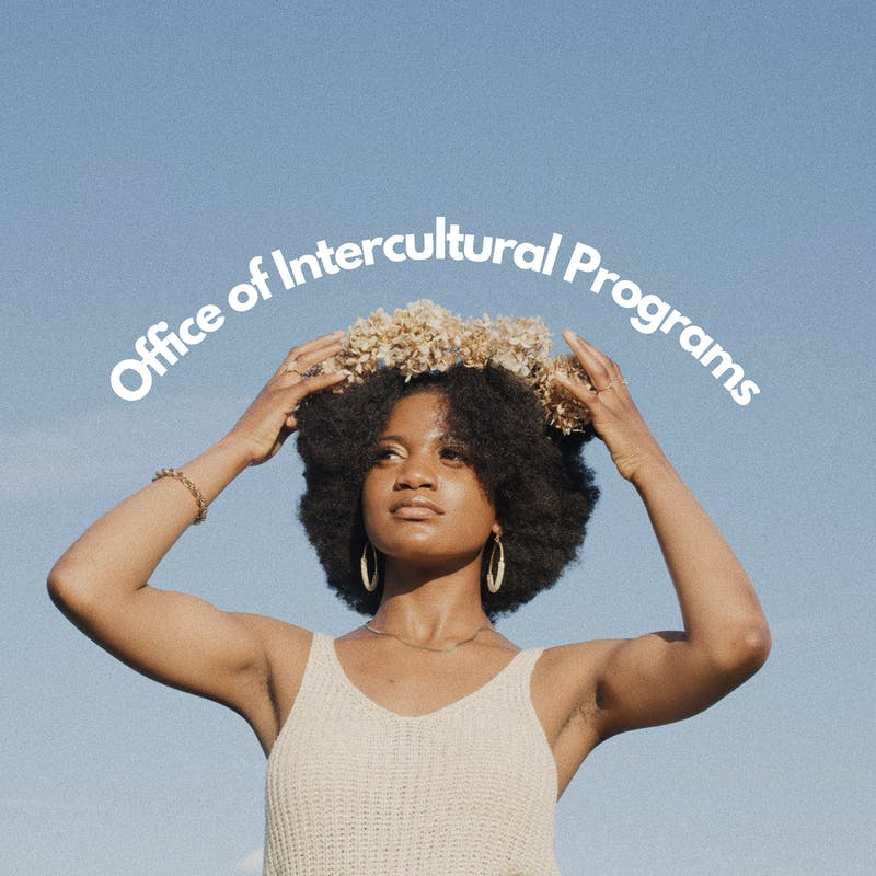 Goodness Korrie is on the cover of the Office of Intercultural Programs annual magazine. (Photo provided by Marissa Williams)