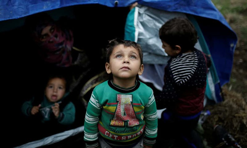 The Moria refugee camp in Lesvos, Greece is far past capacity.