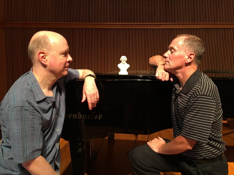 "Professors of Music Leon Harshenin and Christopher Bade perform together in ""Romance without Words."""
