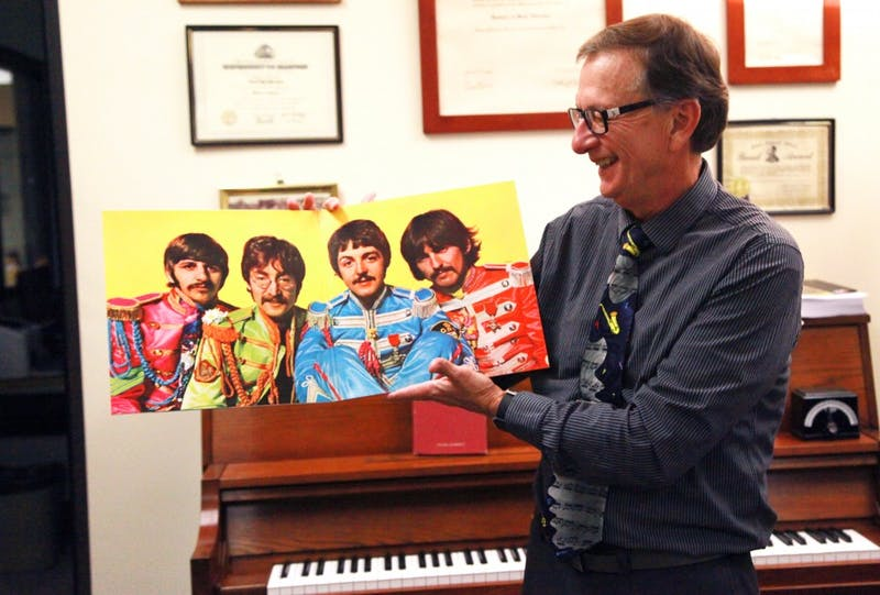 Department chair and professor of music Al Harrison remembers when he first heard the Beatles like it was yesterday. (Photograph by Abigail Roberts)